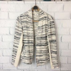 Lou & Grey Open Woven Cardigan Size Small
